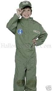 Military Soldier   Air Force Uniform Child Costume Med