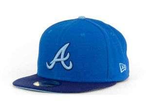 NEW New Era 59Fifty Atlanta Braves MLB Tri tone II Fitted Cap Hat $