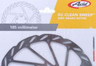 Avid G2 CS Clean Sweep MTB Disc Brake Rotor 185mm 6 Bolt fits Shimano