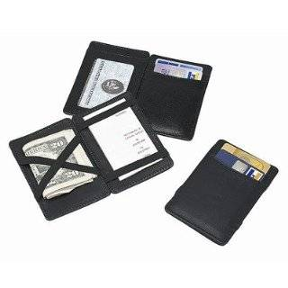 Black MAGIC WALLET billfold credit card Holder Case Men