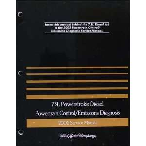 3L Diesel Engine/Emissions Diagnosis Manual Original Ford Books