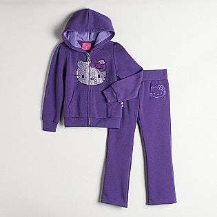 Girls Two Piece Hoodie and Pants Set  Hello Kitty Clothing Girls