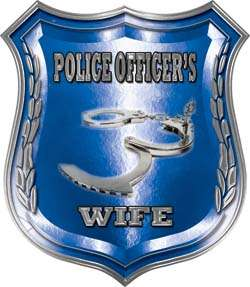 Police Officers Wife Blue Police Decal LE032