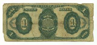 1891 STANTON ONE DOLLAR $1 TREASURY STAR NOTE RED SEAL BRUCE ROBERTS