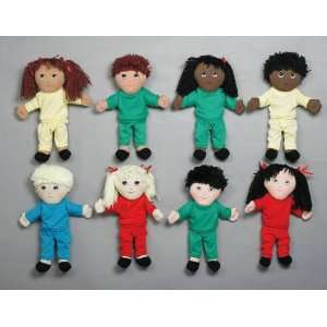 Childrens Factory Multi Ethnic Soft Dolls   Set of 4