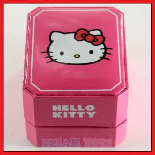 Sanrio Hello Kitty Triangle Rhinestone Faux Leather Wrist Watch