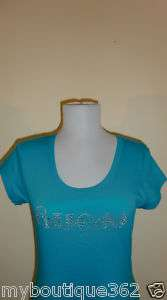 NEW WITH TAG GUESS BLUE LAGOON W/ RHINESTONES TEE TOP