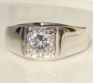 1CT men boy swarovski crystal 18K white gold GP ring promise
