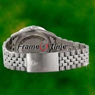 Rolex Mens Datejust Diamond Dial SS Stainless Steel Jubilee Black Date