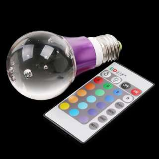 90~240V 16 Color RGB Crystal Flash LED Light Bulb with Remote Control