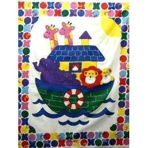 Ark X & Os Baby Panel Cheater Fabric Quilt Top New Nursery Crib BP 15
