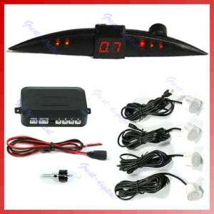 Car 4 Reverse Parking Sensor System Backup Radar LED W