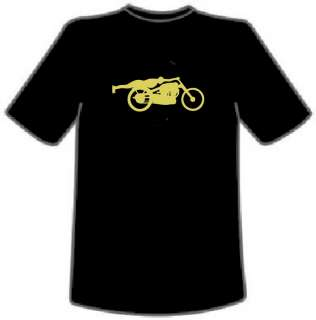 ROLLIE FREE VINCENT BIKE T Shirt Black Blue Red M 3XL