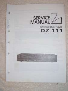 Luxman/Lux Service Manual~DZ 111 CD Compact Disc Player