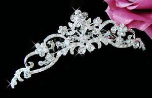Floral Bridal Hair Comb with Swarovski Crystal Wedding Bridal Hair