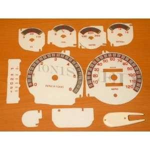 Ram Full Size 1500 2500 3500 White Face Glow Through Gauges Dash Kit