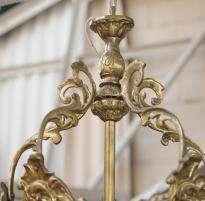 Pair Art Nouveau French Lamps Lanterns Chandeliers