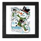 Artsmith Inc Keepsake Box Black Christmas Holiday Snowmen Are Cool