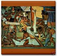 Diego Rivera Ceramic Art Tile Tarascan Civilization