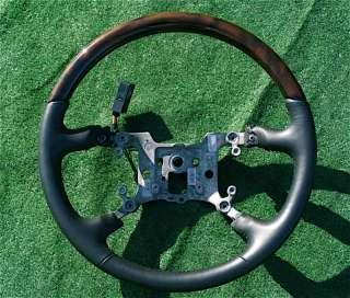 NEW OEM Cadillac DTS Wood Steering Wheel Wooden Black
