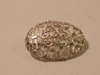 Vtg Alice Caviness Sterling Silver Filagree Brooch Pin