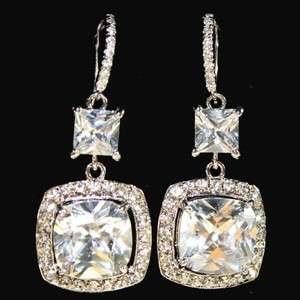 Swarovski Crystal Bridal Drop Earrings Glamourous Wedding Jewelry