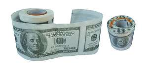 100 Dollar Bill Novelty 2 Ply Printed Toilet Paper