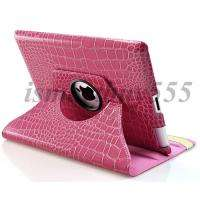 ° Rotating Magnetic Leather Case Smart Cover W/ Swivel Stand
