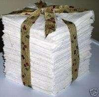 100~2 Rag Quilt Cotton Batting Squares ~WARM & NATURAL