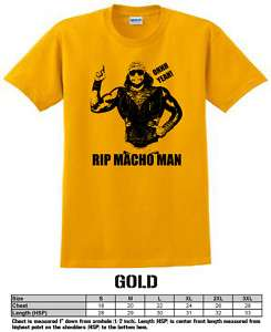 Macho Man Randy Savage RIP Wrestling T shirt