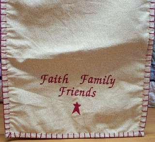 PRIMITIVE EMBROIDERED TABLE RUNNERS, 36 or 54, ASSORTED DESIGNS, 100