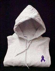 Pancreatic Cancer Purple Ribbon Sweatshirt M Hoodie New