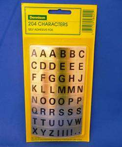204 Alphabet Self Adhesive Gold Foil Stickers #58421