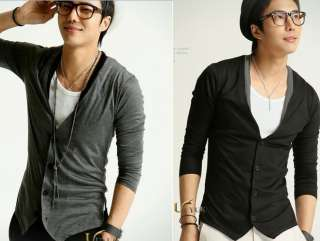 Mens Casual V neck Knitwear Cardigan Sweaters h97 M XL