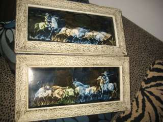 VTG MID CENTURY PR SPANISH COWBOY WITH BULLS PICTURES