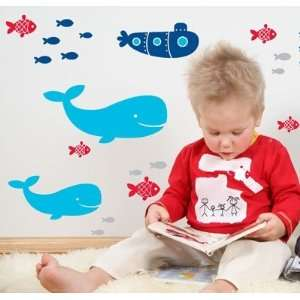 Forwalls Whale of a Time Removable Wall Decal Stickers Baby
