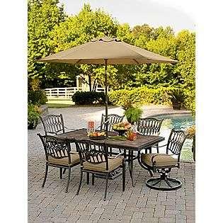 Balmoral 7 Pc. Porcelain Tile Top Dining Set  Agio Outdoor Living