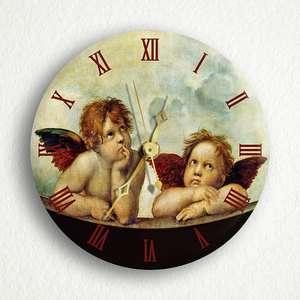 Raphaels Daydreaming Angels Cherubs 6 Wall Clock