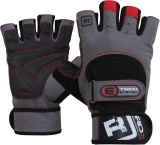 RDX Gel Weight lifting Training Gloves Gym Strap Grip M