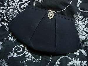 Clutch Purse Black Diamond Retro Evening Bag Evening Clutch Purse
