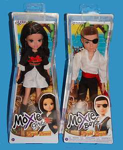 New 2 MOXIE GIRLZ Girl and Boy Pirate dolls Jaxson Lexa Boyz