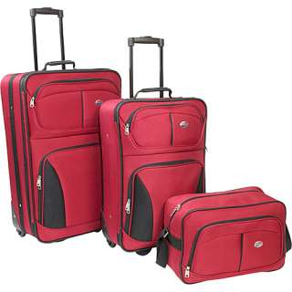American Tourister Fieldbrook 3 Piece Luggage Set   Red