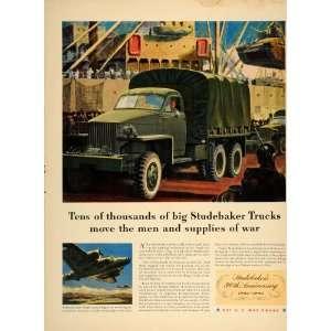 1942 Ad WWII Studebaker Miltary Transport Trucks B 17
