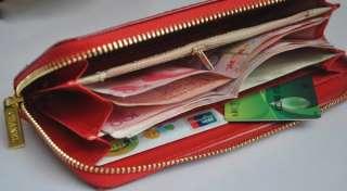 large clutch wallet purse handbag lady women zip clutch wallet/purse