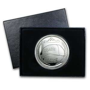 1 oz Coach Silver Round (w/Gift Box & Capsule) Everything