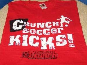 CLEVELAND CRUNCH Crunch Soccer Kicks T Shirt XXL 2X New