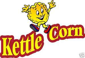 Kettle Corn Korn Concession Food Decal Sticker 24