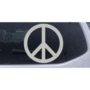 Peace Sign Symbol Car Window Wall Laptop Decal Sticker    Silver 14in