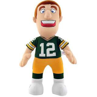 Bleacher Creatures Green Bay Packers Aaron Rodgers 14 Plush Player