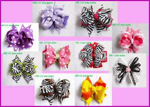 baby girl boutique hair bows without crochet headband